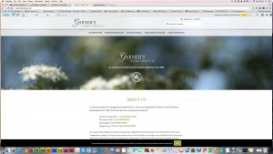 The website of an independent funeral directors with branches in Surrey.