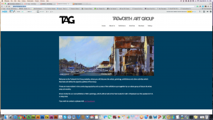 The website of a local art group.