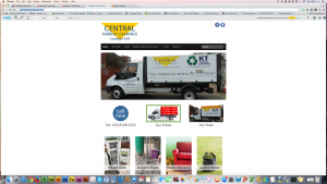 The website of a rubbish clearance company in Surrey.