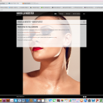 The website of a private professional make-up artist.
