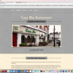 The website of an Italian restaurant in Hampton Court.
