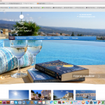 The website of a holiday home rental company in Cyprus.